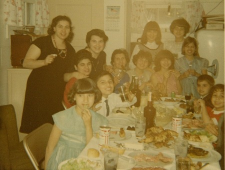 The good old days in Gary, Indiana: family gathered around the table!
