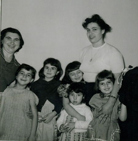 My all time favorite photo of Aunt Lily with her nieces and my mom!  I wasn't born yet, but you can see how the girls absolutely love her!