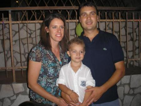 Ignazio Licata with his wife Laura Valenza and their son Rosario