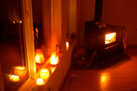 Woodstove and Candles