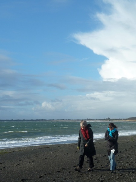 Pacific Coast Winter Walk: Carol and Fran