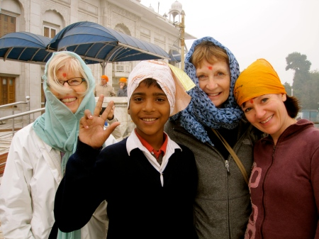 Sikh Temple with Tone, Peggy, Angel and cute young boy