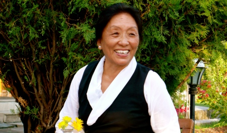 Rinchen, the Dalai Lama's sister-in-law, owner of the Likir House in Delhi.