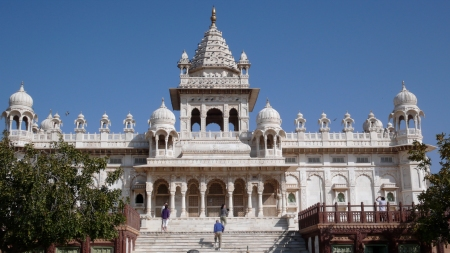 Jaswant Thada, a white marble memorial built for a maharaja