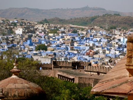 "Jodhpur, known as the ""Blue City"" because of the predominant blue colored houses"