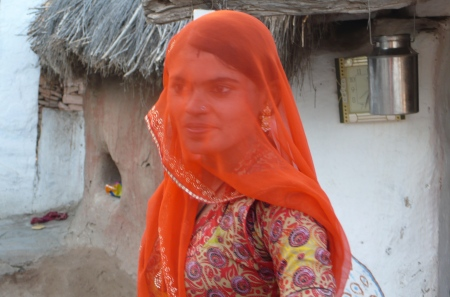 Beautiful woman from pastoral Vishnois village