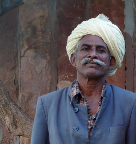 Mr. Rupuba, at our hotel in Jodhpu