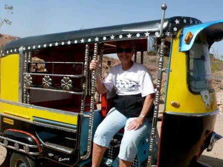 Ginger in Auto)-Rickshaw!!!