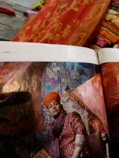 A photo of Mukesh in a magazine article