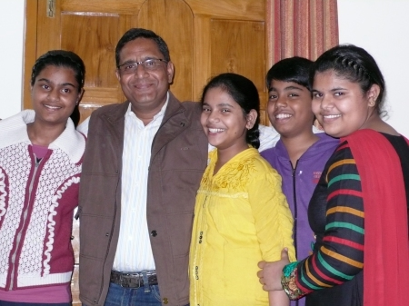 Arvind and his kids!  They are AWESOME!