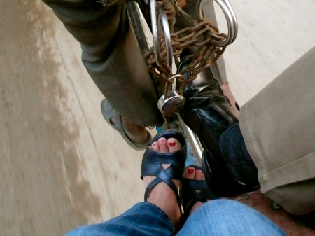 feet: riding the bicycle rickshaw with Arvind