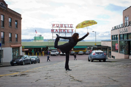 End of photo shoot at Pike Place Market