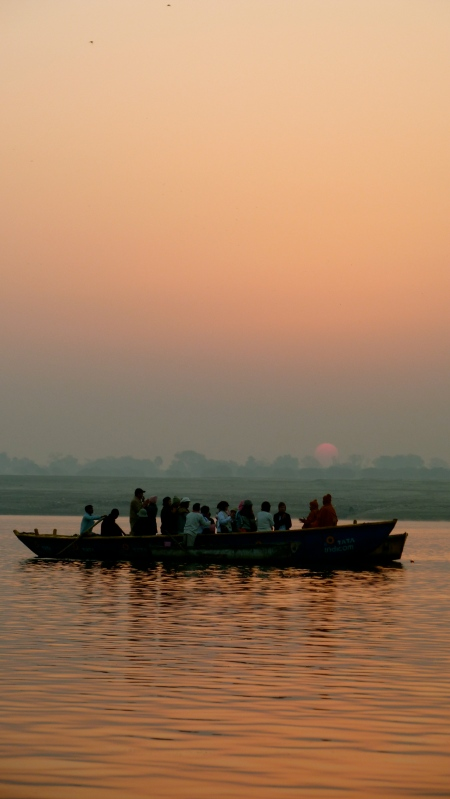 Sunrise on the Ganga (photo taken by Rick in Varanasi)