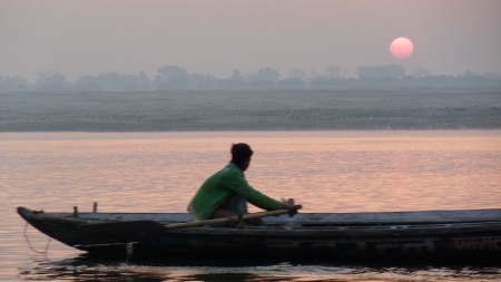The Ganga in Varanasi (photo taken by Rick)