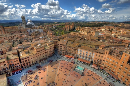 Siena.  We did not do this day trip last year. I am excited to see Siena for the first time (photo found on-line)