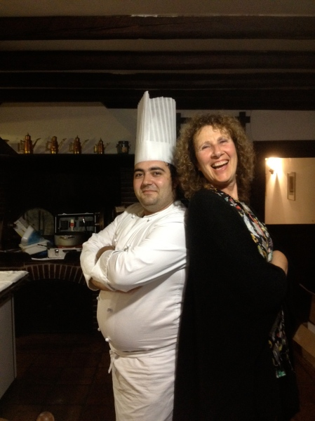 Chef extraordinaire, Massimiliano, and Marilyn. Massimiliano prepares fresh and organic meals. Just when I thought he could not possibly outdo himself, he would, once again, outdo himself...for every meal.  Plenty of vegetarian and non vegetarian options available.
