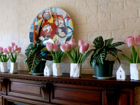 Tulips welcome you at Crystal Creek home and studio in Issaquah, Washington!