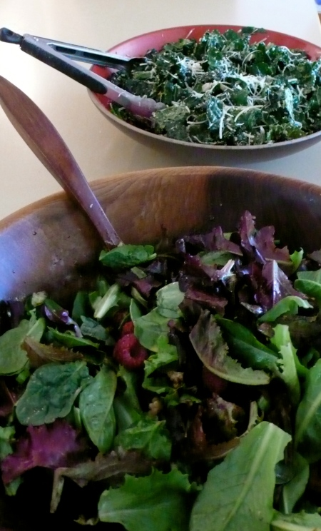 Tuscan Kale Salad (bowl in the background)