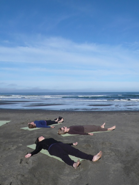 Savasana on the beach