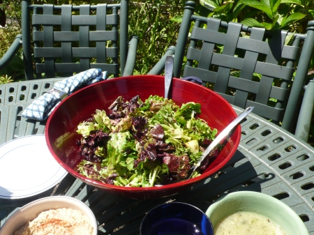 Salad, outdoor lunch