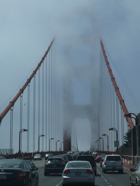 Entering San Francisco in the fog
