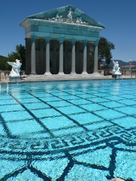 another view of outdoor pool at the Hearst Castle