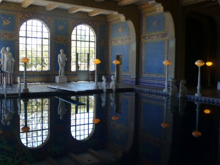 How I'd love to swim in this indoor pool...as seen on our tour!