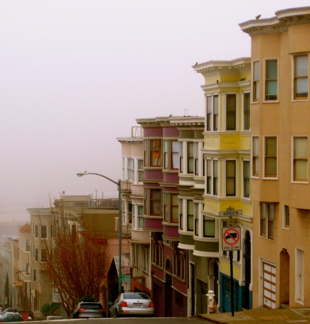 San Francisco in the fog this morning